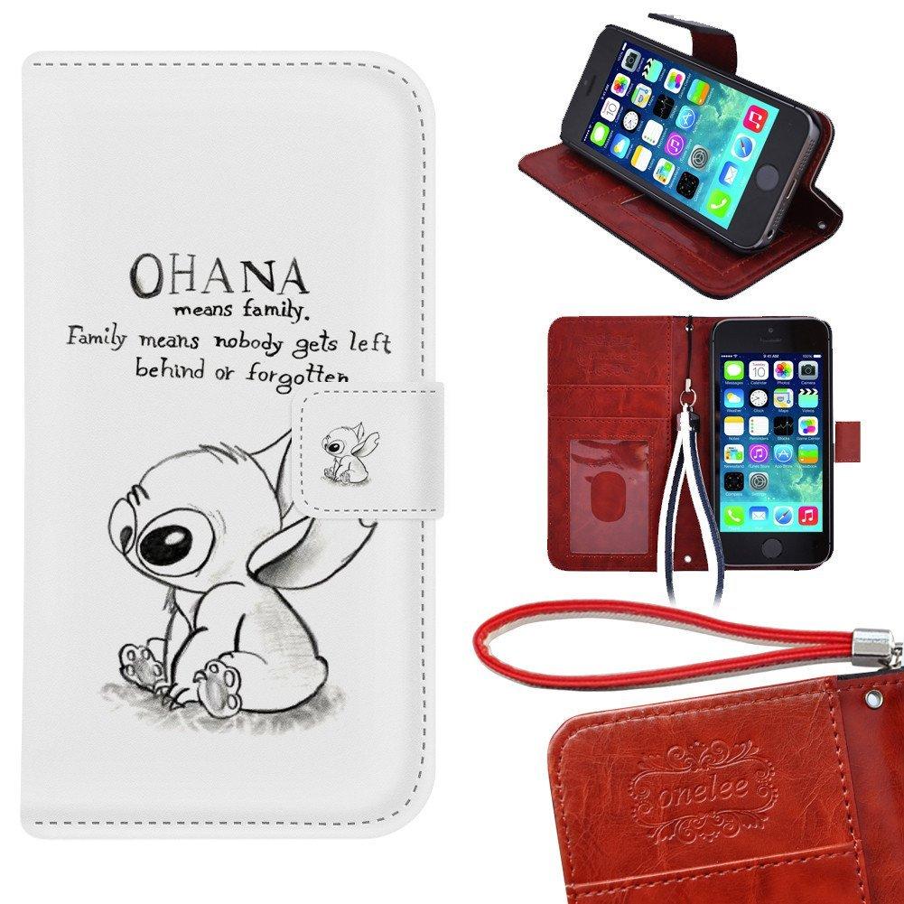 Buy iPhone 5s Wallet Case, Onelee - Disneys Lilo & Stitch Ohana ...