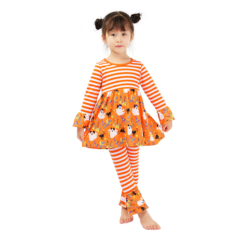Wholesale Floral And Ruffle Lovely Girls Outfits In Childrens Clothing Sets Baby Girl Summer Outfit
