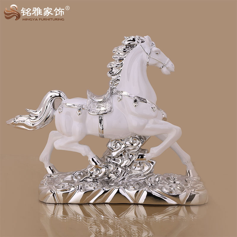 home decor cheap price vivid horse statue for table top decoration