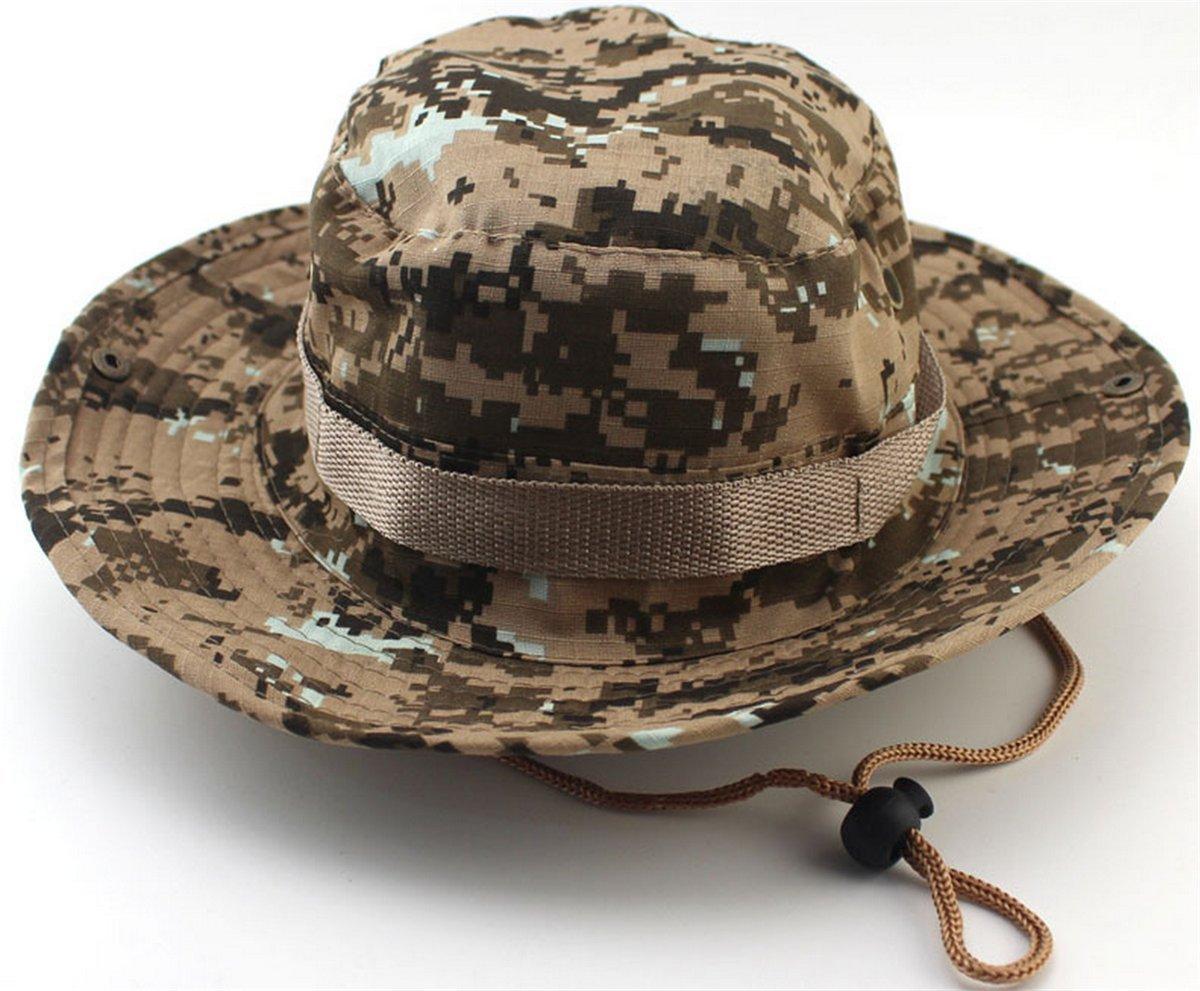176593d8252961 Get Quotations · YOGLY Outdoor Boonie Hat Summer Sun Caps Bucket Mesh Bucket  Boonie Cord Fishing Beach Cap Summer