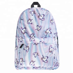 New fashion simple custom design canvas school unicorn backpack