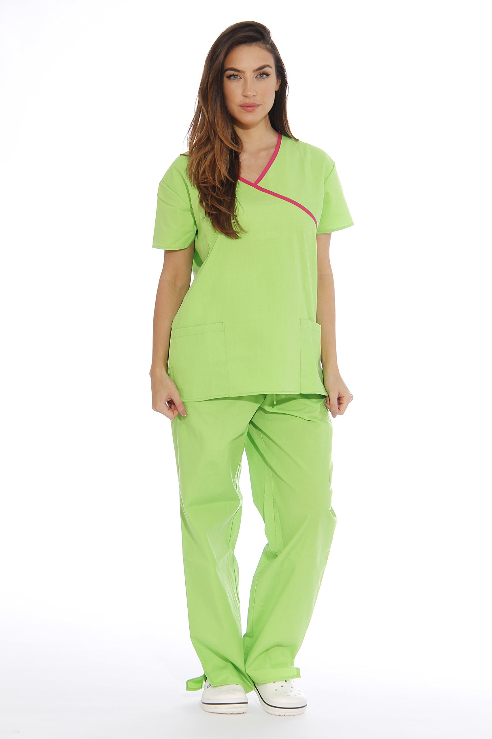 35d416569ab Get Quotations · Just Love Women's Scrub Sets Medical Scrubs (Mock Wrap)