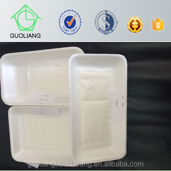 Wholesale Food Packaging Manufacturer Disposable EPS Foam Food Tray With Meat Absorbent Pad