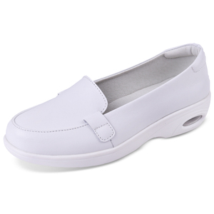 Wholesale Hospital Nurse Working Comfort Leather White Nursing Shoes Woman White