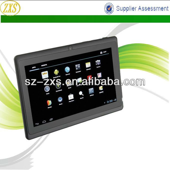 ZXS Q88,China Electronics Allwinner A13 7 Inch MID Google Android 4.0 512MB/4GB Tablet PC with Dual Camera, Android Tablet PC