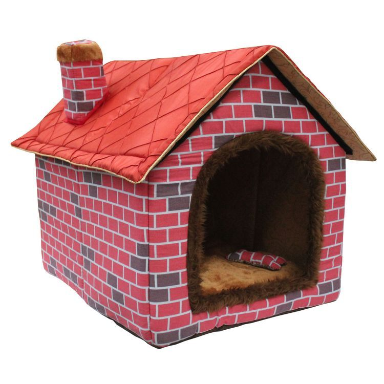 pet house bed 2014 autumn and winter top selling fold large dog house big red brick pet kennel. Black Bedroom Furniture Sets. Home Design Ideas
