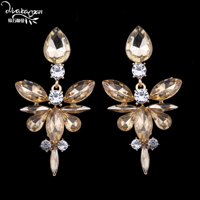 Dvacaman Brand 2017 Cheap Price Crystal Drop Earrings Love Christmas Gift Party Prom Statement Jewelry Accessory Wholesale I69