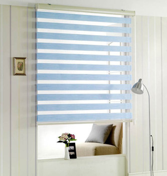 Wholesale Customized Window Zebra Blinds Clear Double Layers Shades