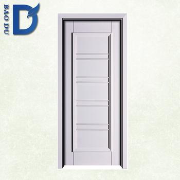 Modern Simple Wood Door Design With Wood Veneer Skin And Picture