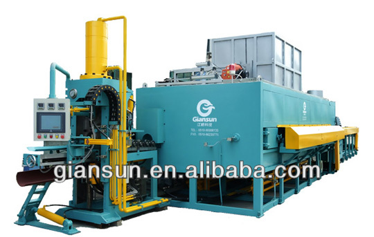 2500T-3000T horizontal aluminum multi billet heating furnace with hot log shear