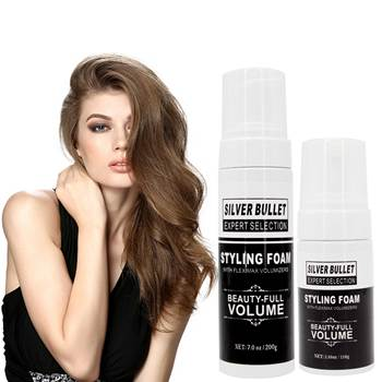 private label free sample hair care product OEM /ODM beauty hair care styling foam mousse for curly hair