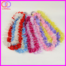 wholesale artificial silk hawaii flower lei for party decoration