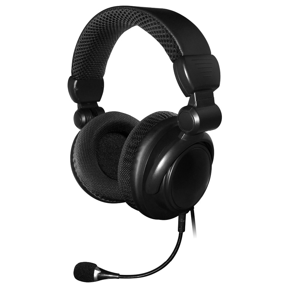 real 5.1 channel Multi-media surround sound headphone PC gaming headset with detachable microphone