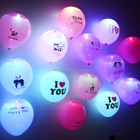 2018 neon party balloons led light ballon glow in the dark balloon in alibaba