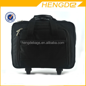 1680D waterproof eminent custom wheeled laptop trolley bag
