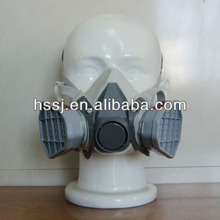 2016 best selling gas mask similar as 3M double cartridge face gas mask chemical gas mask for chemical painting