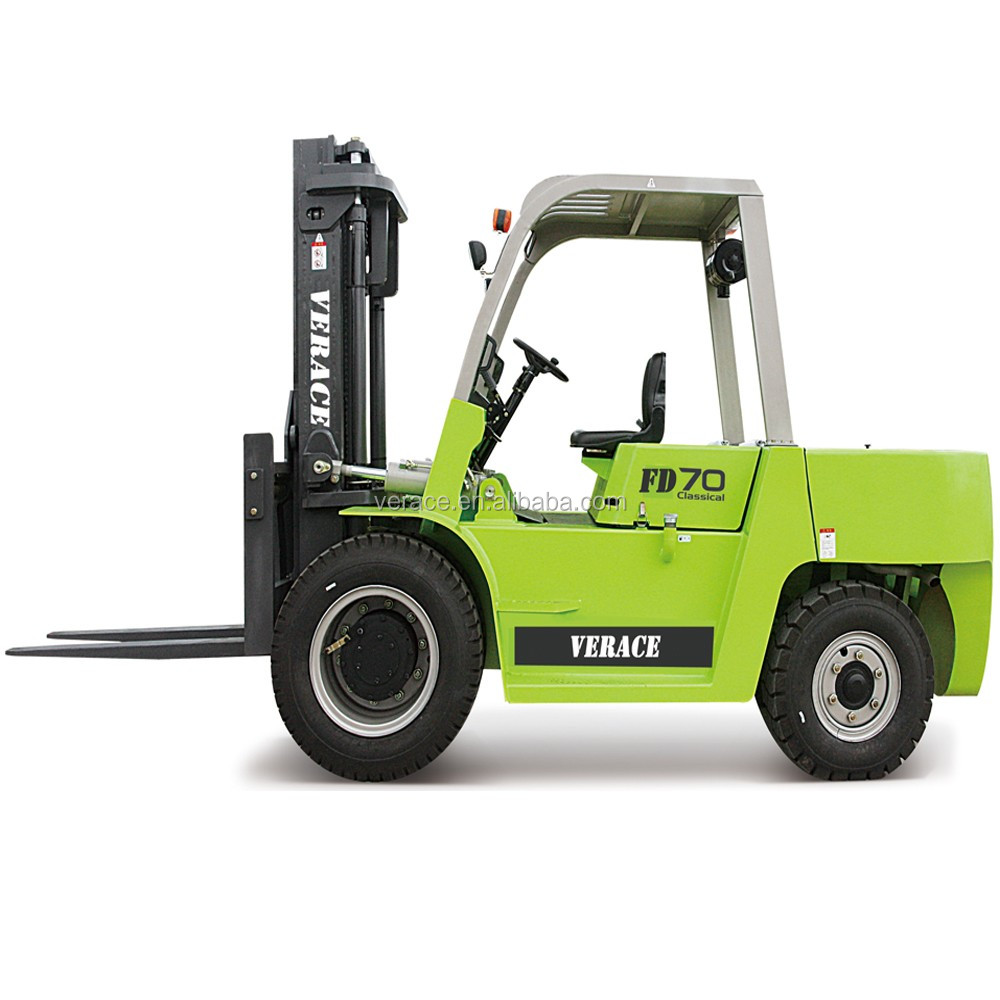 FD70 Top China forklift factory 7 Ton diesel truck for transport fork lift