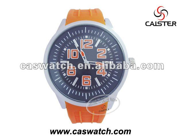 Charming Silicone Watch with big watch face and silicone band/offer ODM,OEM service/ CE,ROHS approval