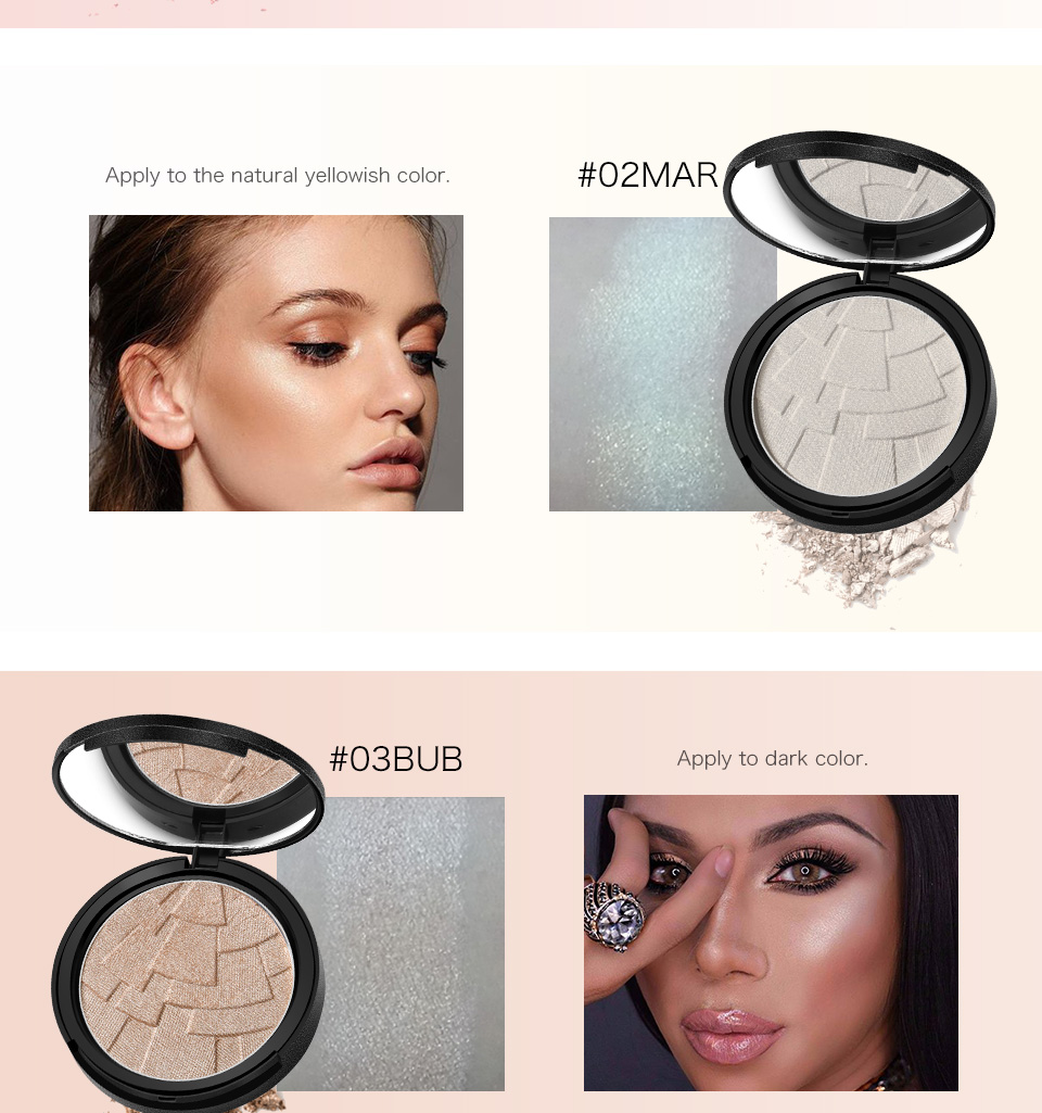 Sunscreen Waterproof Shimmer Illuminator Makeup Highlighter Powder
