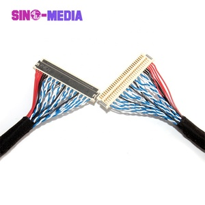 Sino-Media Hirosedf19 30pin 40 pins JAE I-pex display lvds to hdmi cable to lvds cable assembly