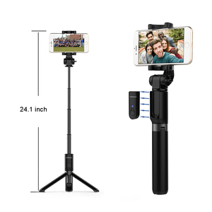Selfie stick Bluetooth Monopod Foldable Tripod stand and Remote control Extendable Alloy 360 Phone Holder for IOS / Android