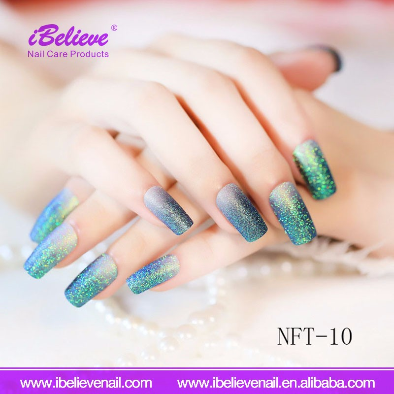 Different Designs Multi Color Finger Beauty Decoration Tool Full Cover French False Nails
