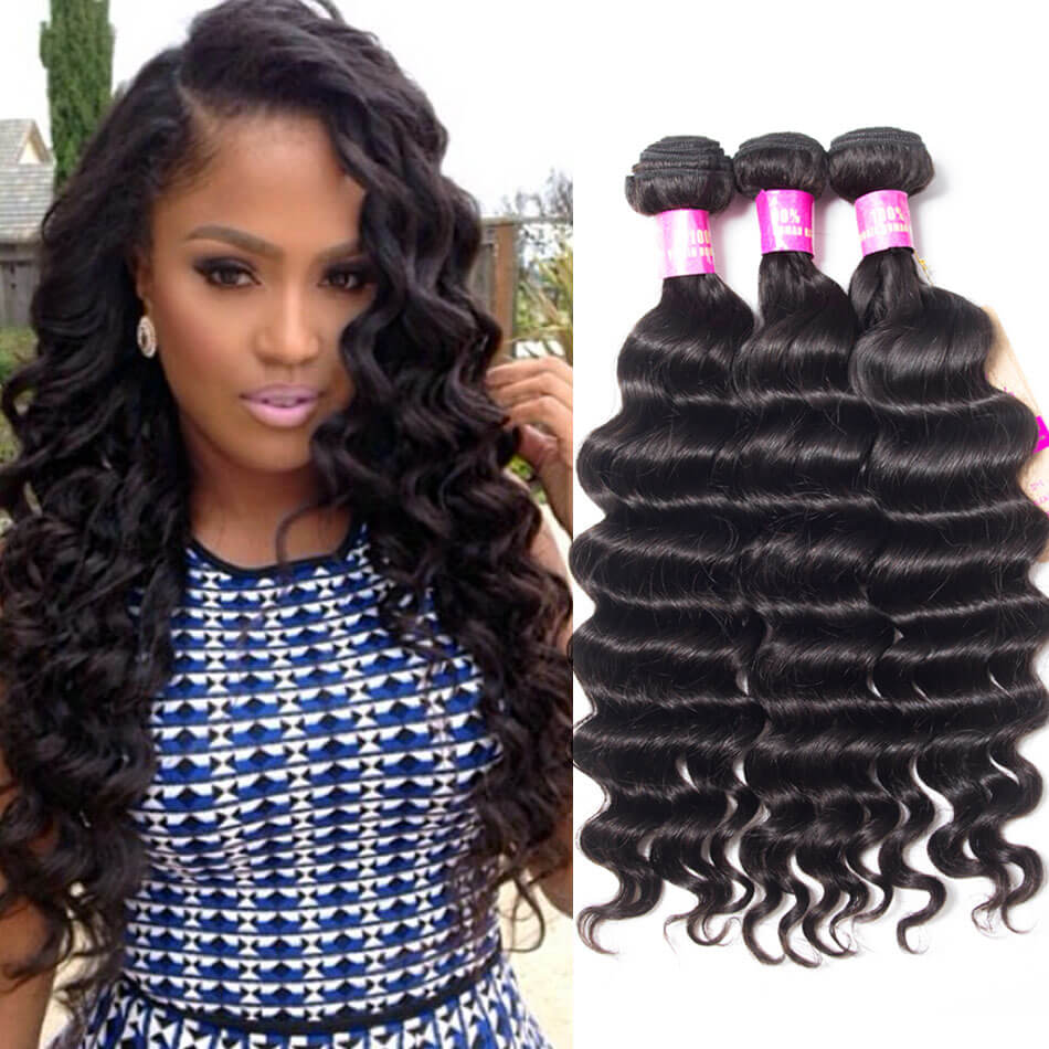 Loose Deep Wave Weave Hairstyles 100 Grams Of Brazilian Hair Great