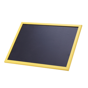 Small Message Black Chalk Board With Wooden Frame Coated PVC