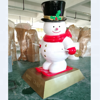 outdoor fiberglass christmas snowman for sale