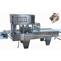 BG-4 Automatic fast food lunch tray box filling sealing machine