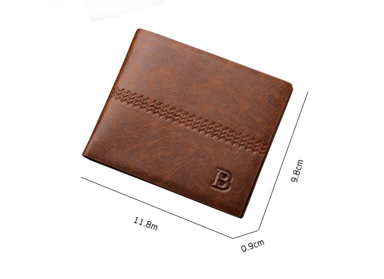 2017 Hotsale Men Short Male Clutch Trifold Wallet Western Mens Money Bag