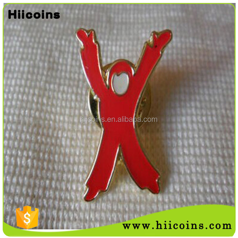 Wholesale Custom Made Children without Sight & Hearing Charity Child Hands Pin Lapel Badge