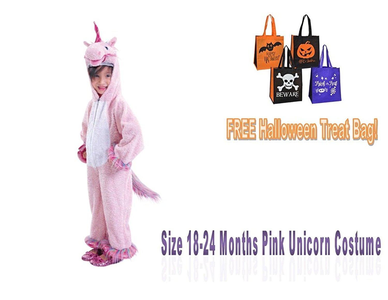 c5072eb63a3 Infant CHILDu0027S HALLOWEEN COSTUME Unicorn Size 18-24 Months Pink  Jumpsuit Rainbow Girl BONUS TREAT Sc 1 Th 197