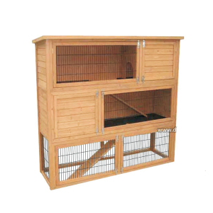 Commercial 3 story layer farming cages puppy house wooden rabbit hutch for sale