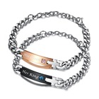 "NEW King Queen Bracelet Unique Gift for Lover ""His Queen""""Her King "" Couple Bracelet Stainless steel Bracelets For Women"