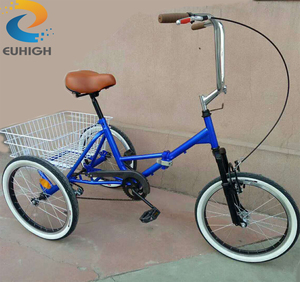 Disabled folding tricycle for shopping