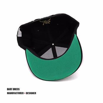 25472bc2e65 Green Under Brim 3d Embroidery Snapback Hats - Buy 3d Embroidery ...