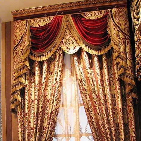 Free Shipping D Angleterre Classic Royal Quality Curtain