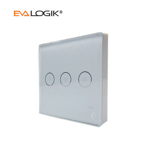 Smart Home Automation Z-Wave Touch Panel Light Wall Switch 3 Port