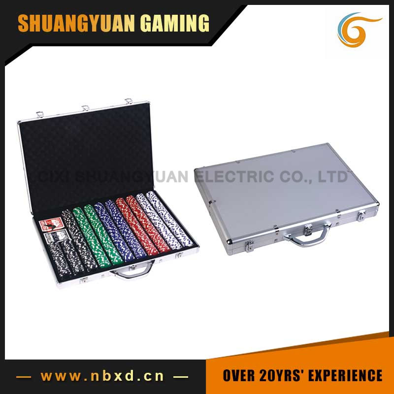 1000 Poker Chip Case Set With Real Aluminum Case