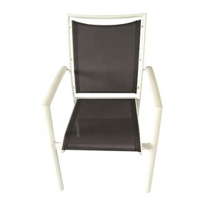 Iron marble aluminium garden chair cafe chairs metal frame table outdoor bistro set