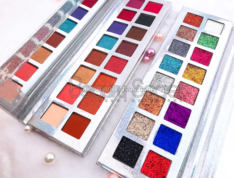 High pigmented wholesale mineral lady cosmetics eye shadow Pressed Glitter Eyeshadow
