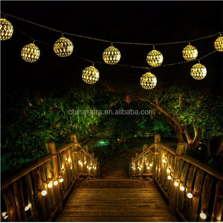 LED Globe String lights Moroccan Ball Lights