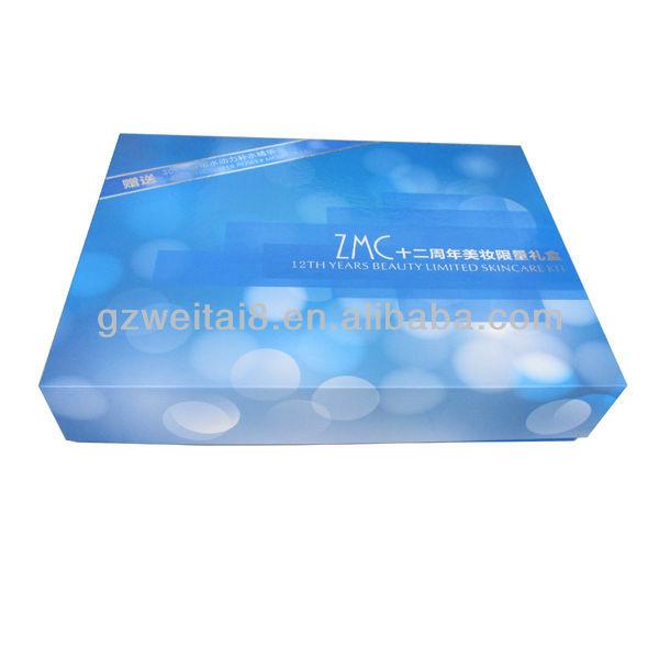 Beauty Aqua Blue Cosmetic Gift Paper Box,Vivid Color Printed ...