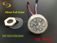 High lumin 45 mm dmx led pixel SMD 5050 waterproof smart round led pixel module matrix led pixel light