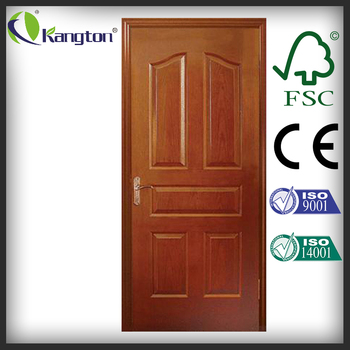 New Design 5 Panel Wood Grain Interior Wooden Door