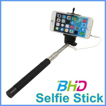 wholesale colorful cable take pole selfie stick with cable for iphone and android smart phone. Black Bedroom Furniture Sets. Home Design Ideas