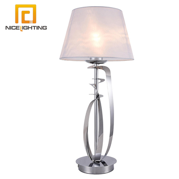 American Style Portable Luminaire Desk Light Chrome Sliver Metal Clic Table Lamp