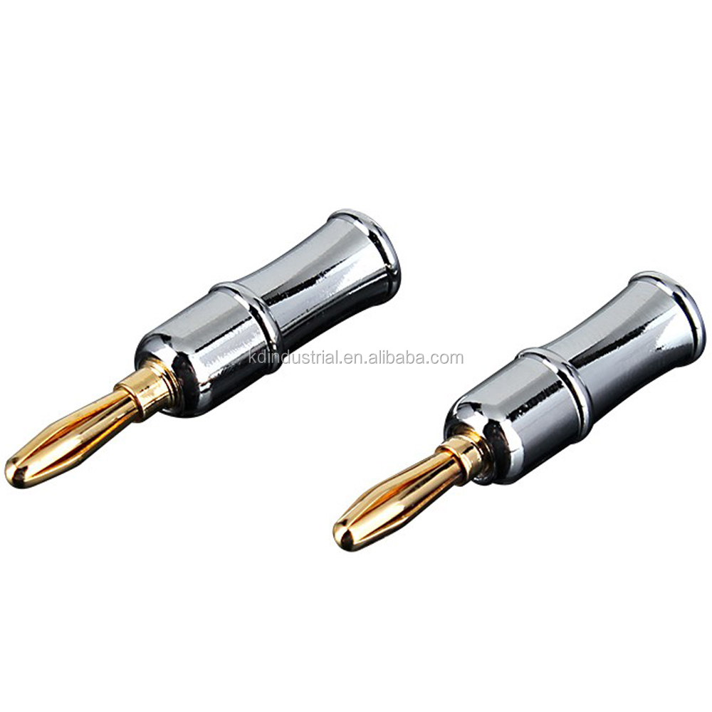 OEM Banana Plug Full Copper RCA Plug Gold Plating Speaker Cable Banana Connectors Audio parts