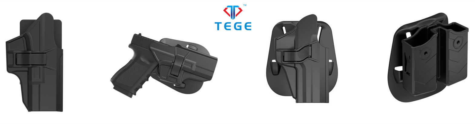 TEGE Polymer Gun Holster For Glock 17/22/31 Gen 12 3 4 5 with Drop Offset Attachment For Police Military
